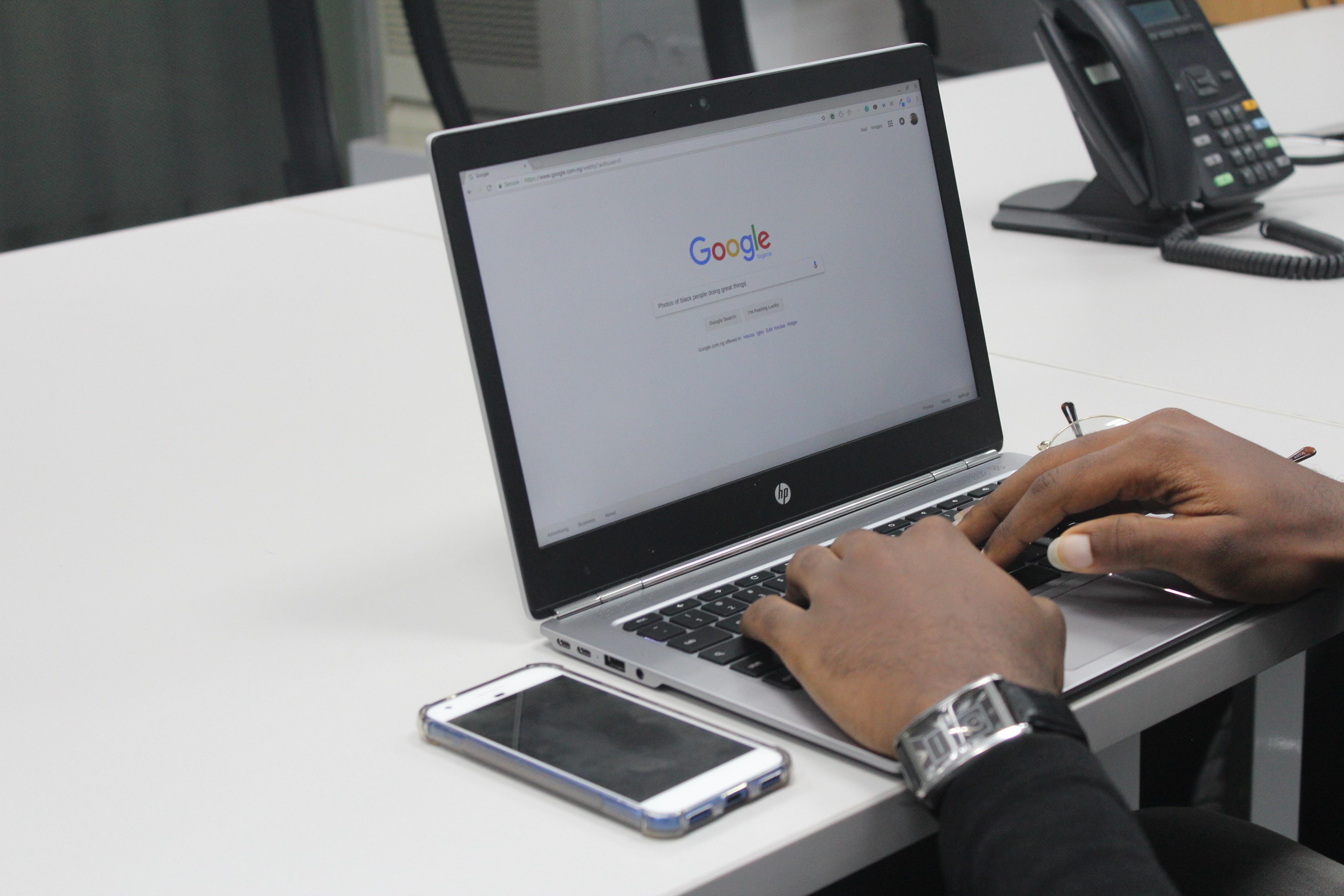 Webseite bei Google registrieren